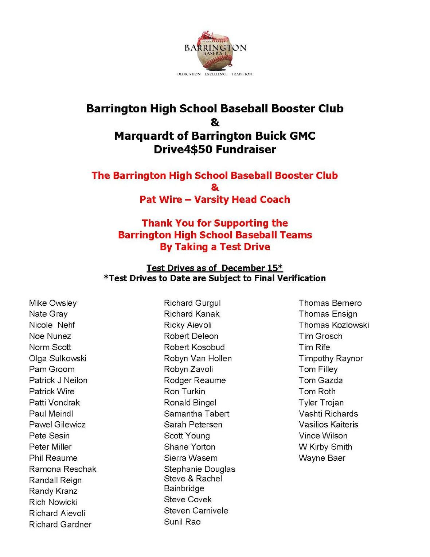 Barrington High School Baseball Booster Club Drive4 50 Drivers Update 121516 Page 3