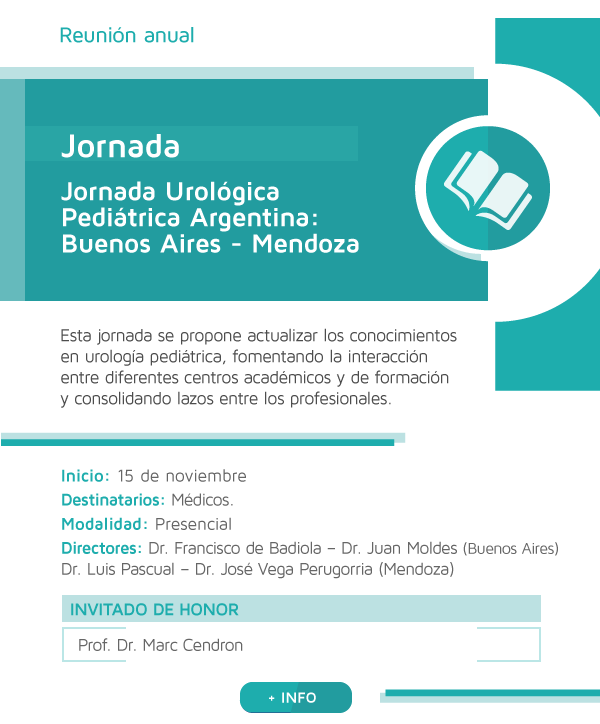 Jornada Urológica Pediátrica Argentina: Buenos Aires - Mendoza