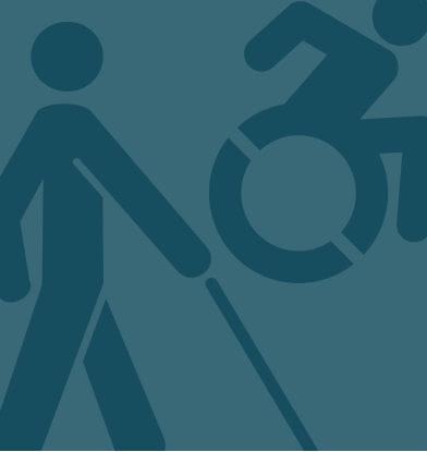 disability symbols for blind and wheelchair access