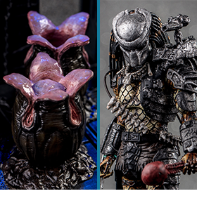HIYA TOYS 1/18 SCALE ALIEN & PREDATOR FIGURES & ACCESSORIES
