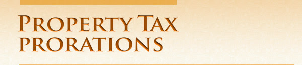 Property Tax Prorations