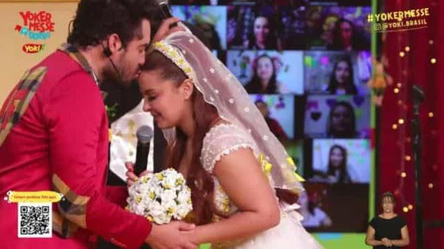 'Casamento' de Maiara e Fernando em festa junina faz alegria dos fãs