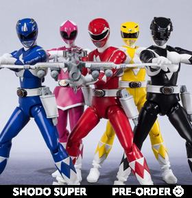 Mighty Morphin Power Rangers Shodo Super Box of 6 Figures