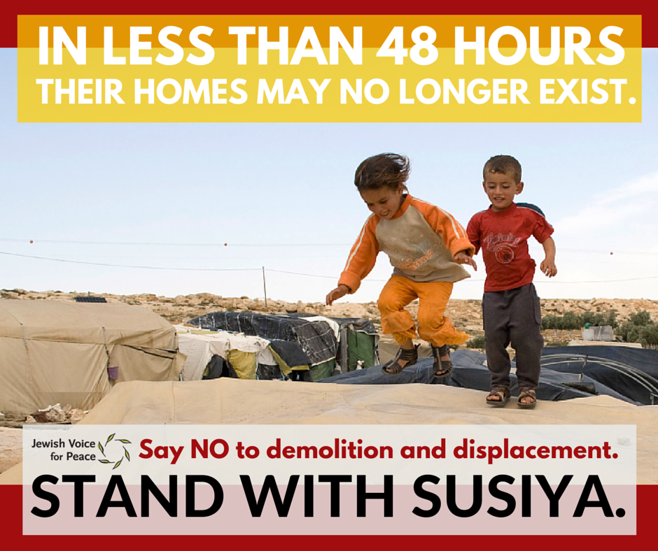 Standing with Susiya - Globally, we are paying attention.