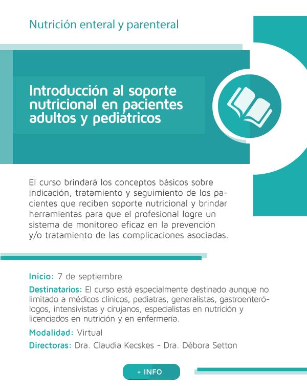 Introducción al soporte nutricional en pacientes adultos y pediátricos