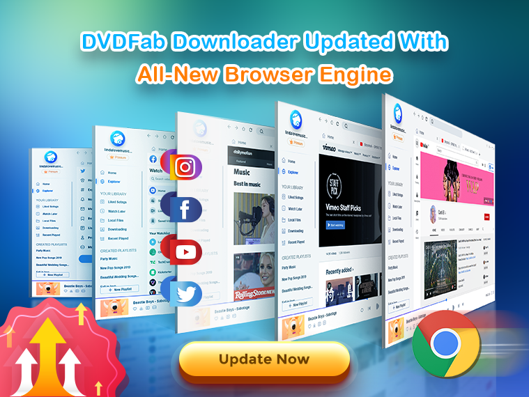 DVDFAB Video Downloader Pro built-in browser