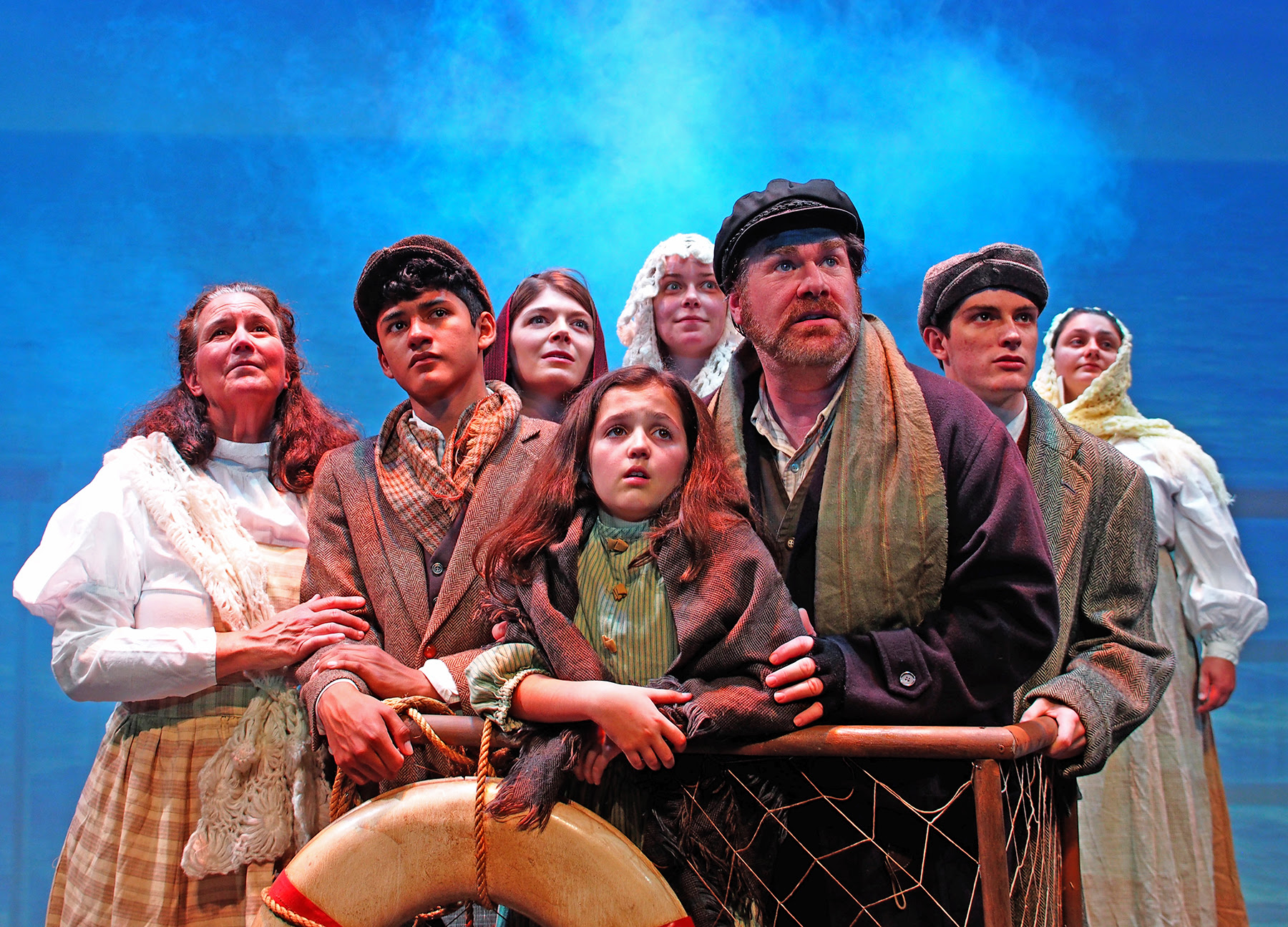 Barbara Baumgarten, Cristian Sack, Hilary Goodnow, Brenna Kenney, Finn Clougherty, JillianGriffin, with Hannah Dwyer as Little Girl and Michael Hammond as Tateh