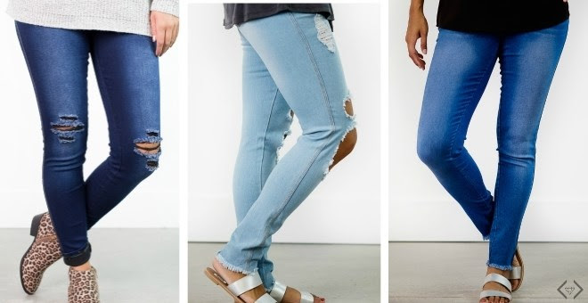 HOT!! Distressed Jeggings...
