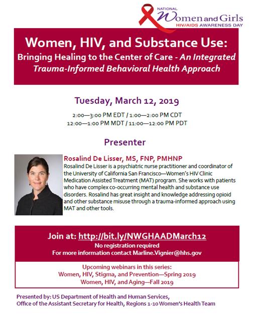 National Women and Girls HIV/AIDS Awareness Day Webinar March 12