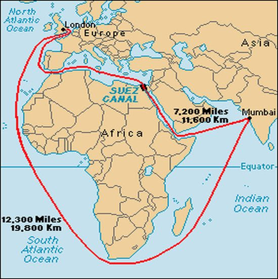 The Routes around Africa