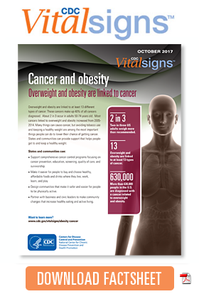 Download Cancer and obesity Factsheet
