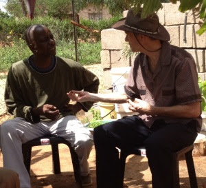 Discussion under a banana tree