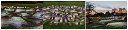 """Artesanía Bejarano 0280-intro-3 """"Root Bench"""", mobiliario urbano en Corea del Sur. Ingenioso laberinto circular demadera. Noticias"""