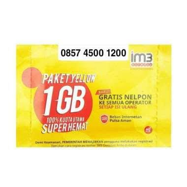 Indosat Nomor Cantik IM3 0857 4500 1200 Kartu Perdana Pluang [4G LTE]