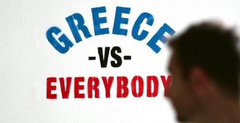 Grafiti en el centro de Atenas. - AFP