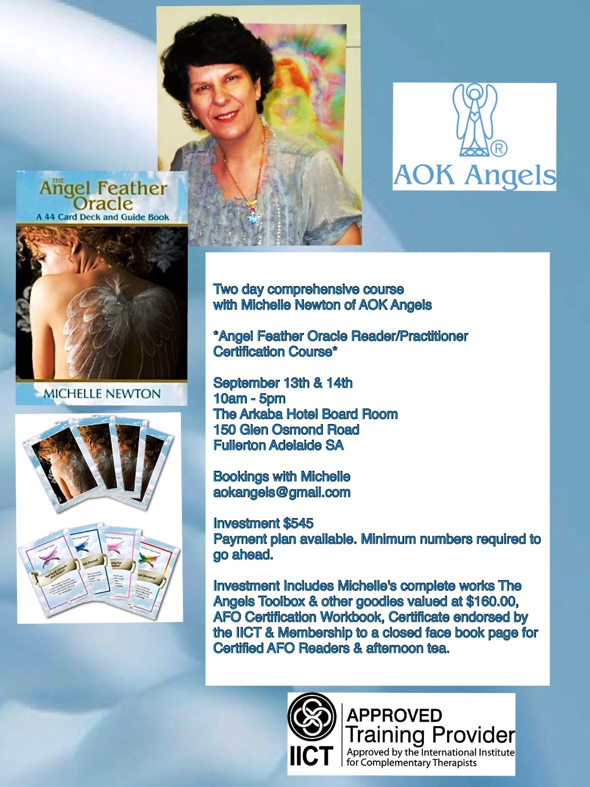 Adelaide Angel Feather Oracle Certification Course September 13th