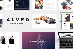 Alveo Minimal PowerPoint Template