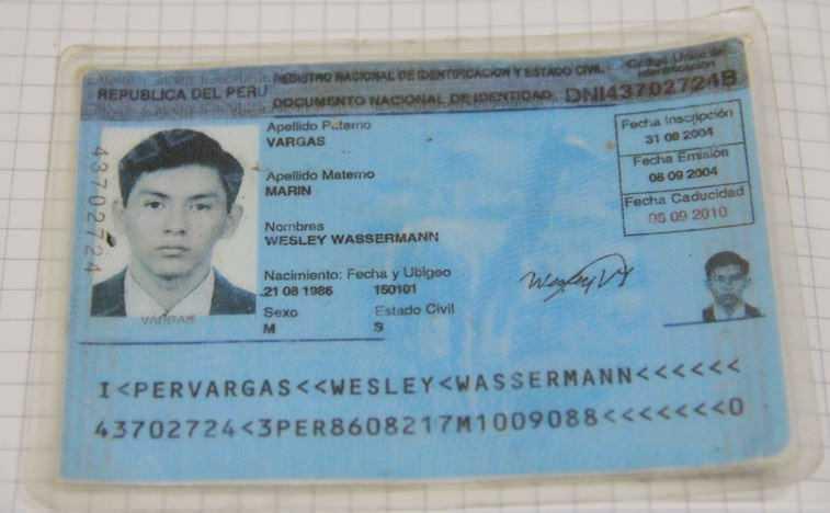 Verdadeira identidade de Wesley. Este seria o terceiro transexual 'recrutado' pelo tráfico a ser detido na fronteira do Acre.