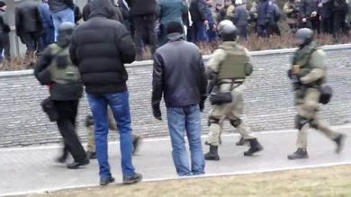 Los tristemente conocidos mercenarios de la compañía estadounidense Blackwater han sido vistos en las calles de la ciudad ucraniana.