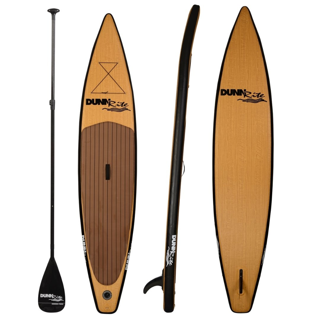 inflatable paddleboard - wood grain pattern