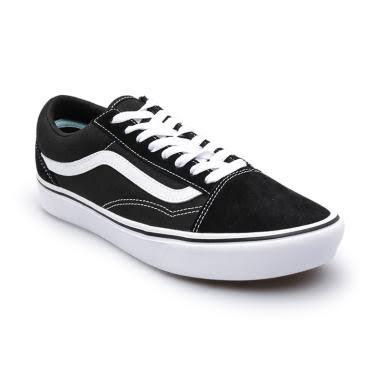 Vans UA Comfycush Oldskool True Sepatu Sneaker Unisex - Black White [VN0A3WMAVNE]