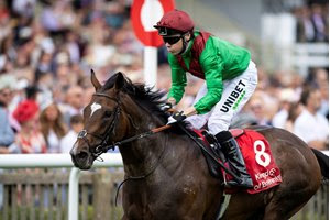 Spanish Mission wins the Bahrain Trophy at Newmarket