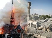 Ramzy Baroud draws comparisons between the global reaction to the fire at Notre-Dame last week in Paris vs that towards the destruction of Churches and mosques in Gaza and Middle East.