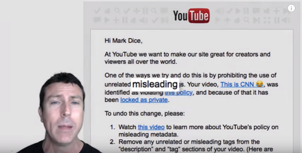 YouTube Hides Mark Dice's Video Exposing CNN as Fake News and the Reason Is Unbelievable  (Video)