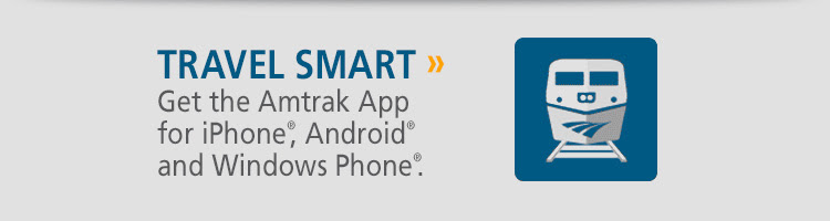 Travel smart. Get the Amtrak App., get 1 free.