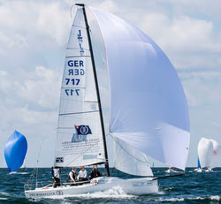 J/70s sailing Kiel Week in Germany