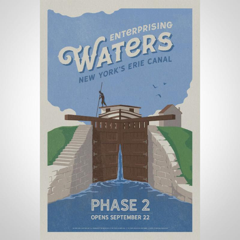 Enterprising Waters_ New York_s Erie Canal exhibition poster