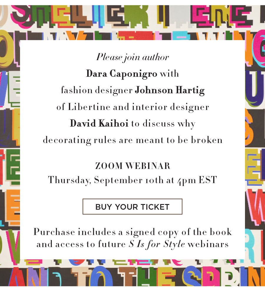 Schumacher: Virtual Event Zoom Webinar - Why Decorating Rules are Meant to Be Broken