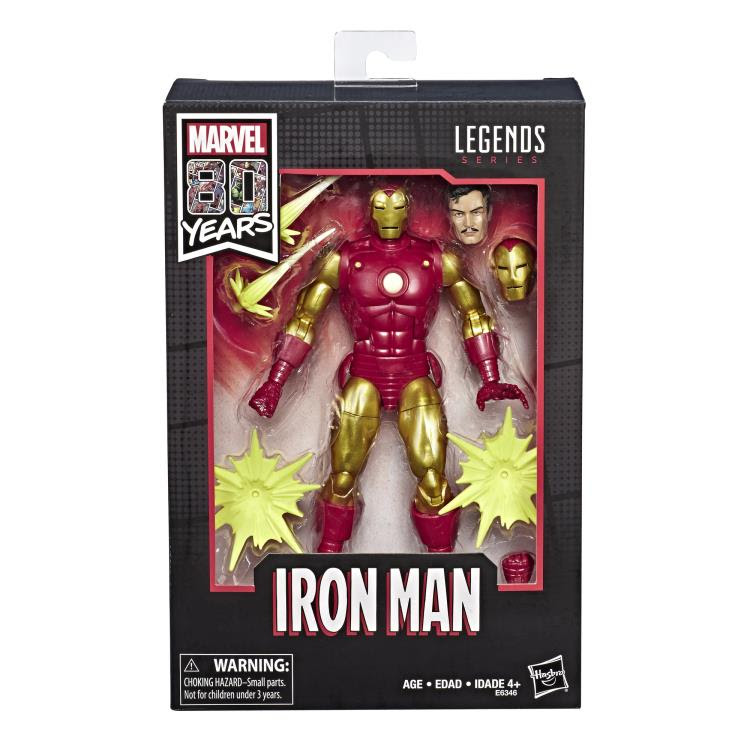 "Image of Marvel Legends 80th Anniversary Iron Man 6"" Figure"