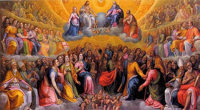 Resultado de imagen para multitud de santos catolicos
