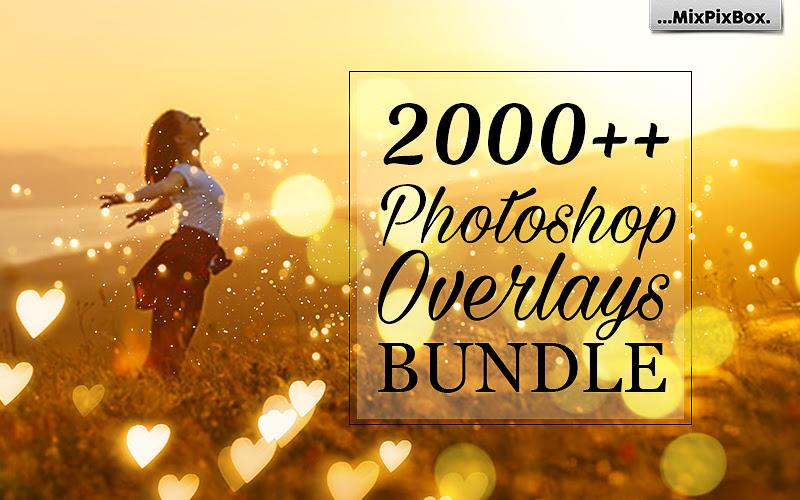 2000+ Photoshop Overlays Bundle