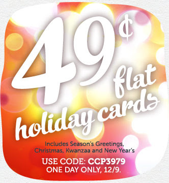 ECHO MONDAY! 49¢ Flat Holiday Cards at Cardstore! TODAY ONLY 12/9/13. Use Code: CCP3979, Shop Now!