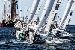 J/70s sailing league off Kiel, Germany
