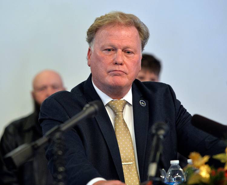 Kentucky State Rep. Dan Johnson (R) addresses the public from his church regarding sexual assault allegations. (Timothy D. Easley/AP)