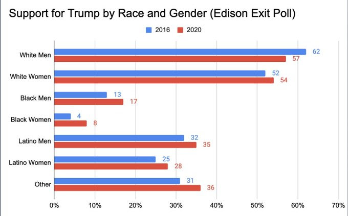Chart of voters by race