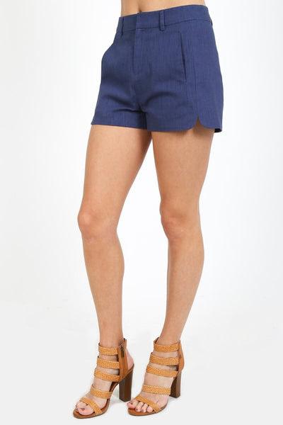 high waist prep shorts