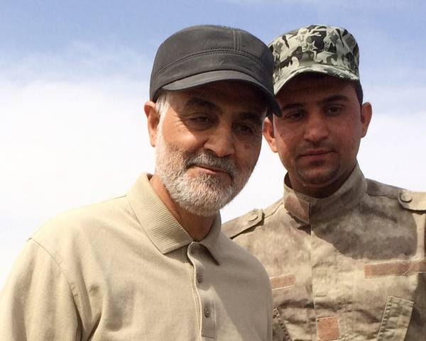 Iranian Revolutionary Guard Commander Qasem Soleimani in Iraq's Salahuddin province during anti-ISIS operations in 2015. (Reuters)