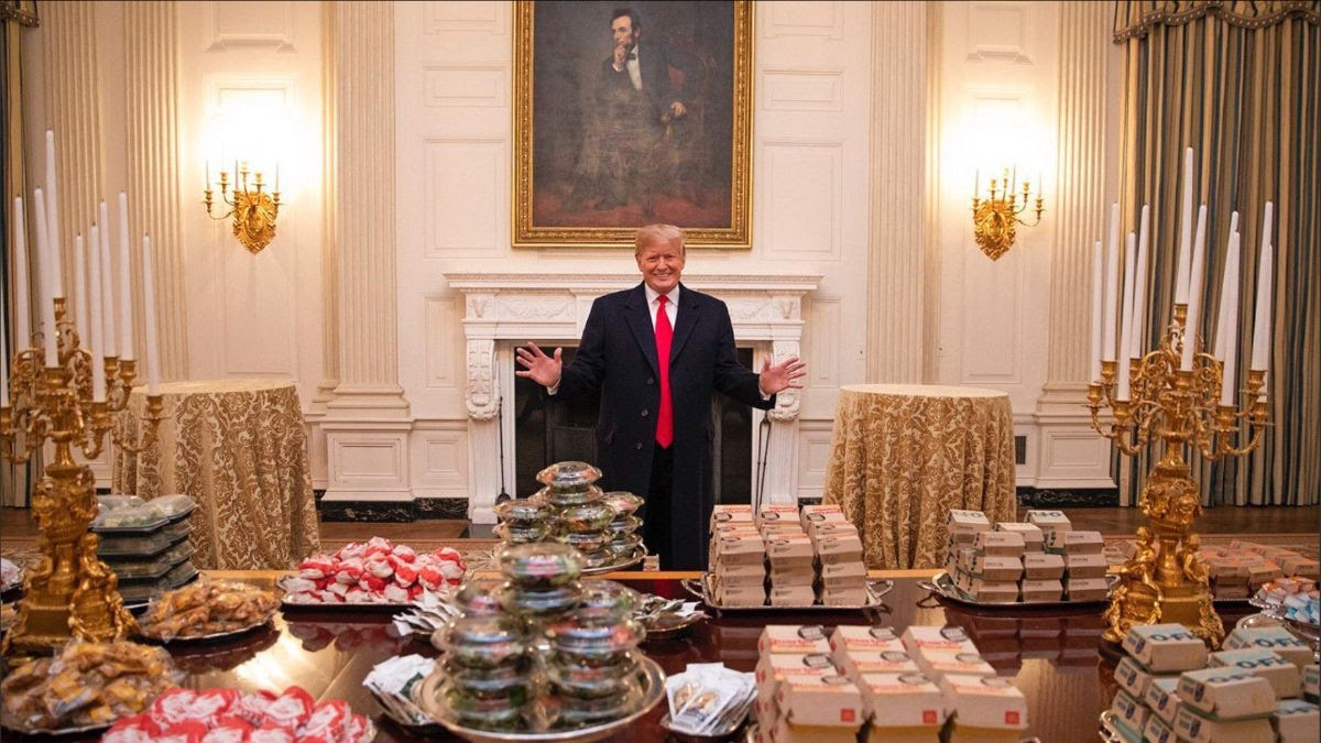 Trump and burgers pic