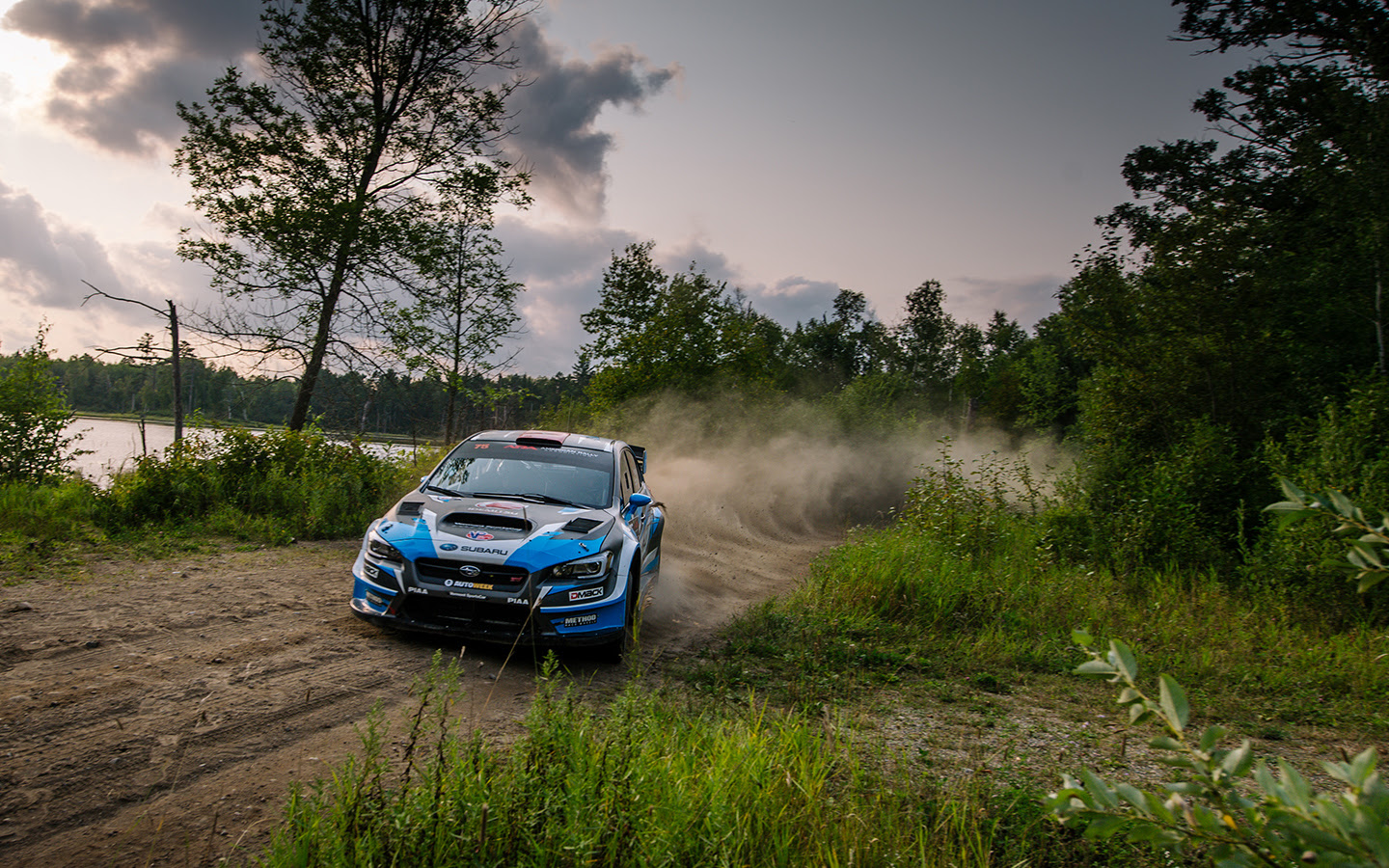 Higgins dominated the fast technical roads of the 2018 Ojibwe Forests Rally
