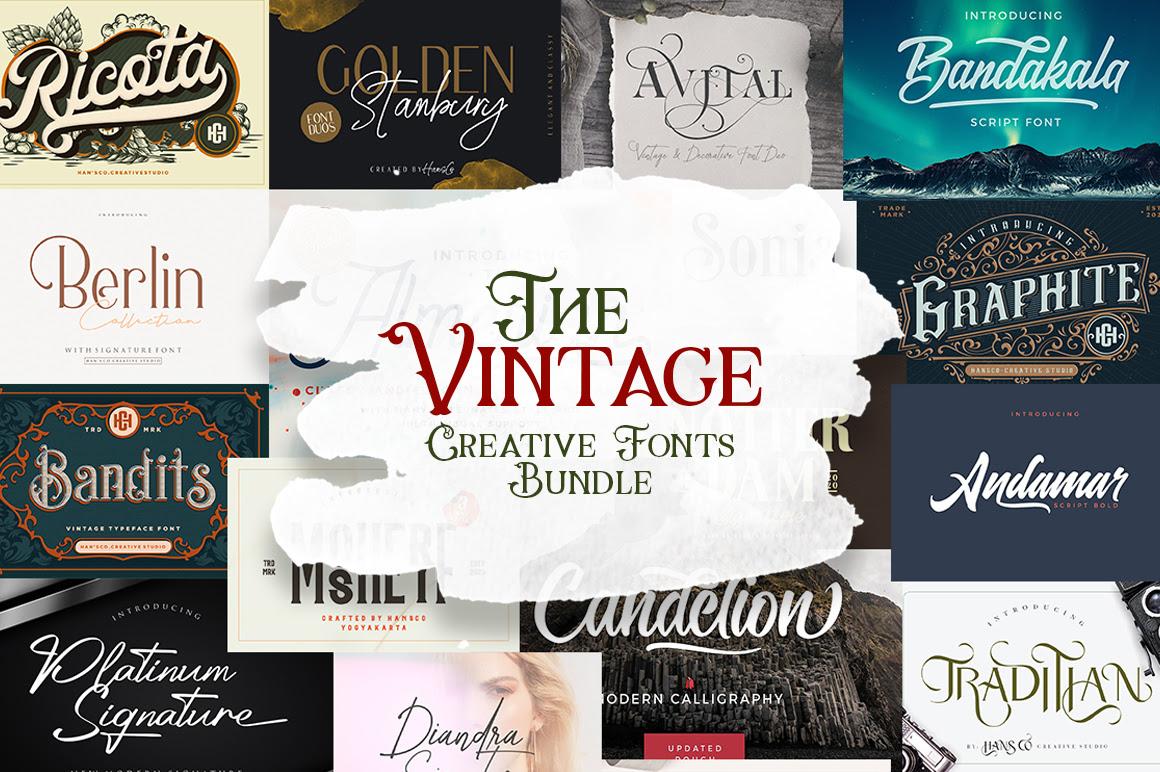 The Vintage Creative Fonts Bundle