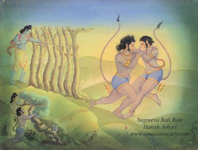 http://www.sanatansociety.com/beeld/Paintings/Harish_Johari/Ramayana/hj_r05_sugreeva_bali_ram.jpg