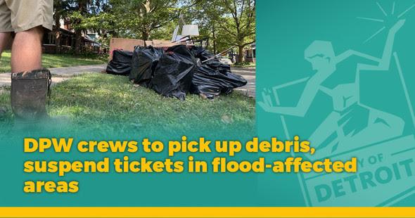 Flooding - DPW Crews Pickup Debris