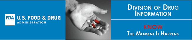 FDA Logo, hands holding pills