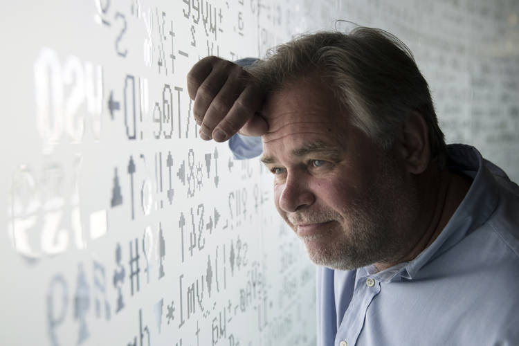 Eugene Kaspersky, Russian programmer and CEO of Russia'sKaspersky Lab, poses at his company's headquarters in Moscow. (Pavel Golovkin/Associated Press)