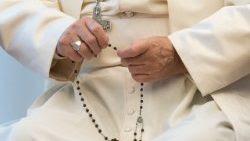 El Papa Francisco rezando el Santo Rosario