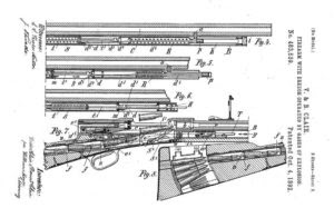 Clair brothers patent for a gas operated rifle, 1892